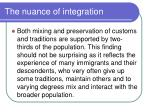 the nuance of integration