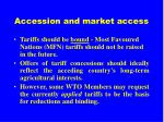 accession and market access