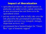 impact of liberalization
