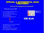 special differential s d treatment