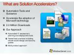 what are solution accelerators