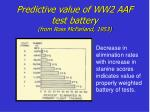 predictive value of ww2 aaf test battery from ross mcfarland 1953