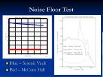 noise floor test