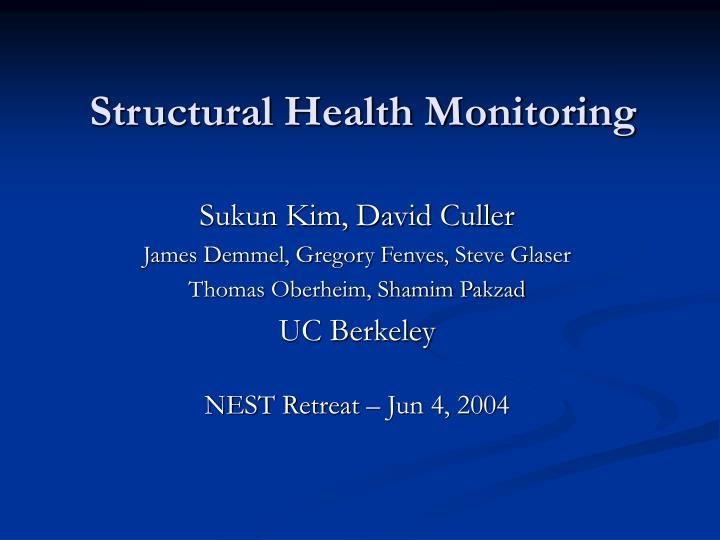 structural health monitoring n.