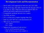 development tools and documentation
