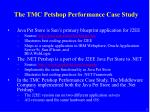 the tmc petshop performance case study