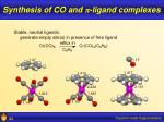 synthesis of co and p ligand complexes