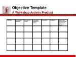 objective template a workshop activity product