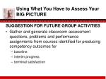 using what you have to assess your big picture3