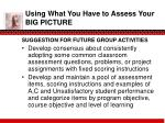 using what you have to assess your big picture4