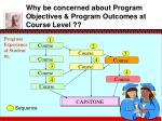 why be concerned about program objectives program outcomes at course level