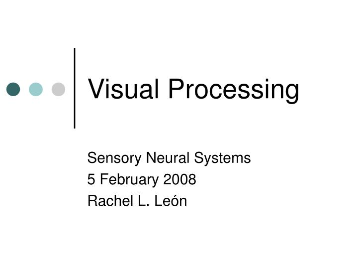 visual processing n.