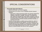 special considerations82