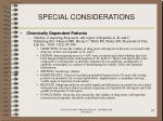special considerations93