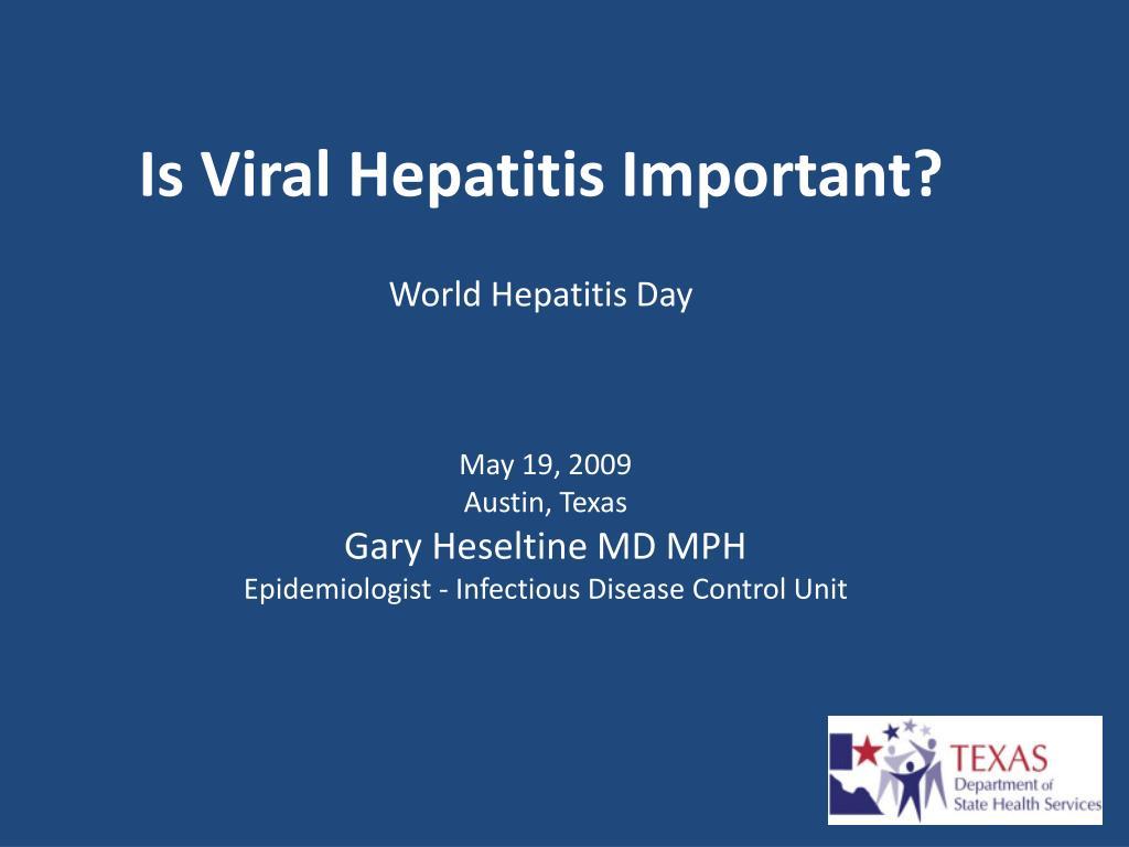 is viral hepatitis important world hepatitis day l.