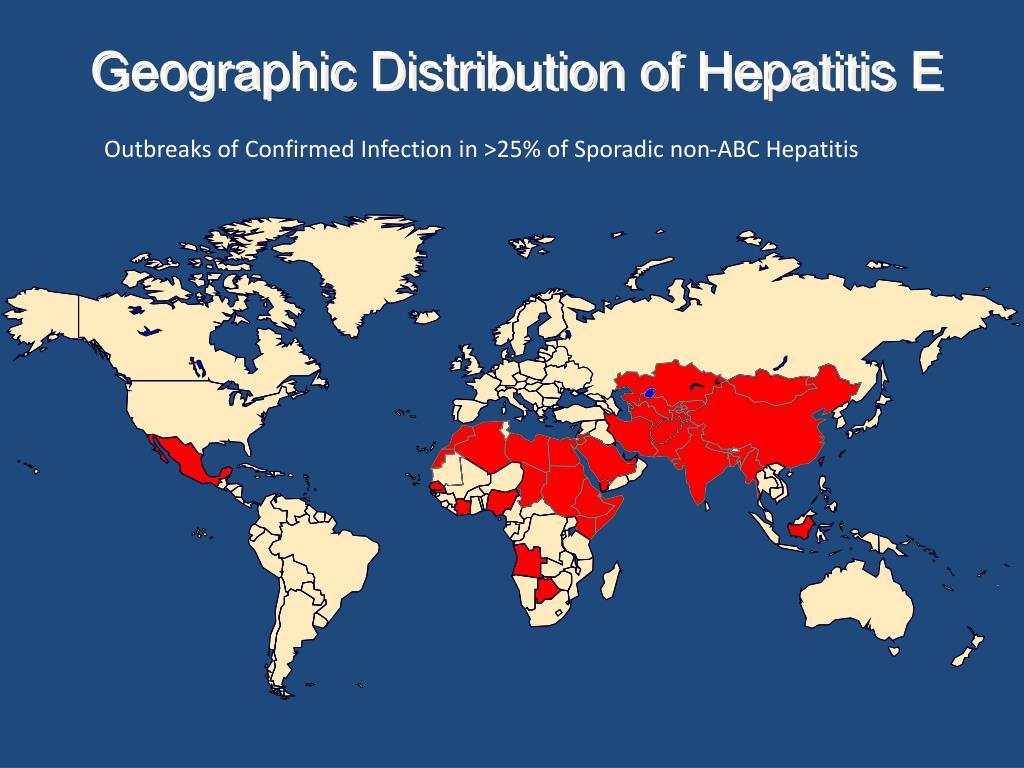 Geographic Distribution of Hepatitis E
