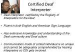 certified deaf interpreter