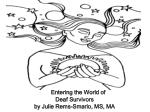 entering the world of deaf survivors by julie rems smario ms ma