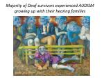 majority of deaf survivors experienced audism growing up with their hearing families