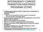interagency career transition assitance program ictap