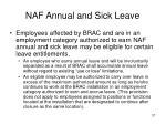 naf annual and sick leave