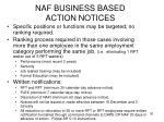 naf business based action notices