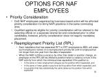 options for naf employees