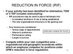 reduction in force rif