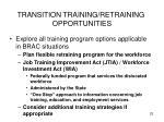 transition training retraining opportunities