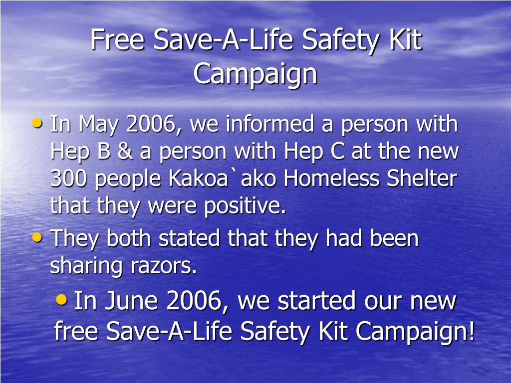 Free Save-A-Life Safety Kit Campaign