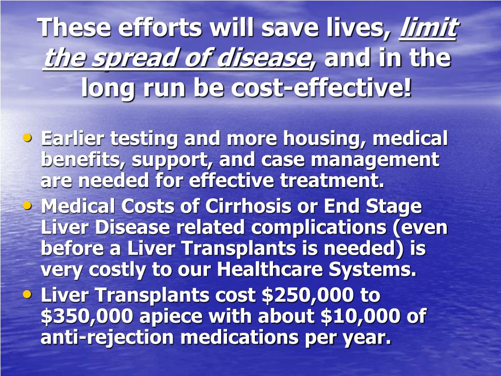 These efforts will save lives,