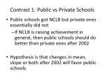 contrast 1 public vs private schools