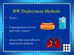 bw deployment methods