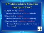 bw manufacturing capacities biopreparat cont