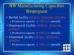 bw manufacturing capacities biopreparat
