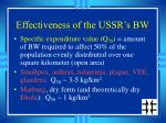 effectiveness of the ussr s bw