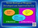 soviet biological weapons developed and approved for use