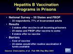 hepatitis b vaccination programs in prisons