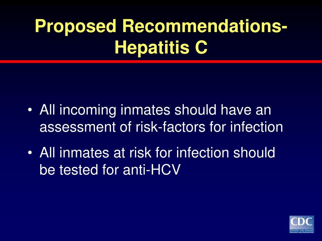 Proposed Recommendations-Hepatitis C