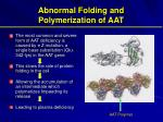 abnormal folding and polymerization of aat
