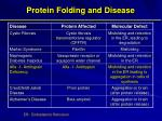 protein folding and disease