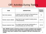 cbt activities during testing