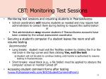 cbt monitoring test sessions
