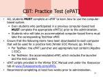 cbt practice test epat