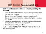 cbt record accommodations