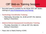 cbt web ex training sessions
