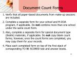 document count forms