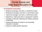 florida statute and state board education rule
