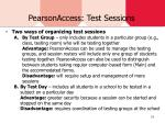 pearsonaccess test sessions