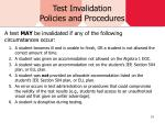 test invalidation policies and procedures1